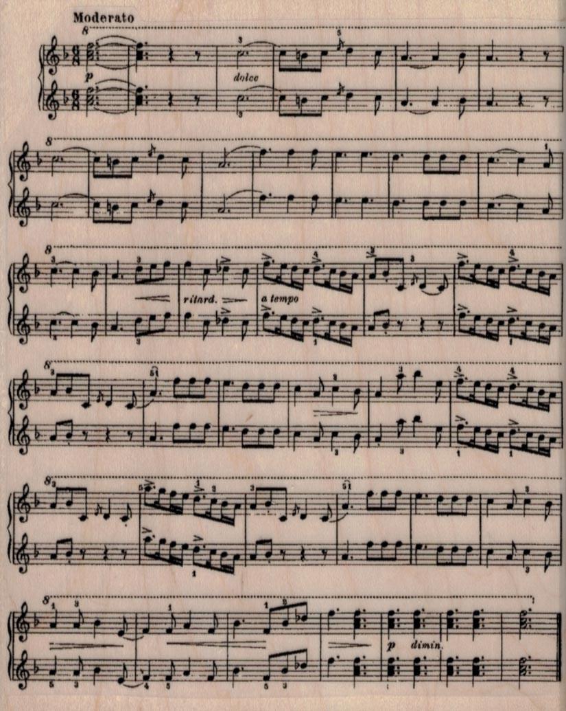 Sheet Music Background 4 1/4 x 5 1/4