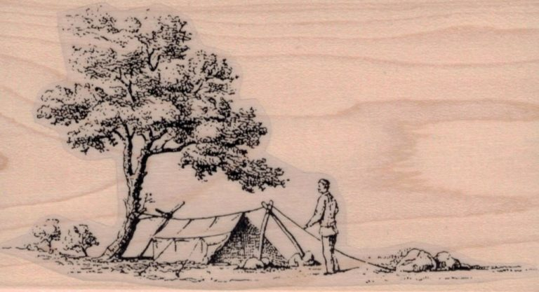 Men Setting Up Camp 3 x 5 1/4-0