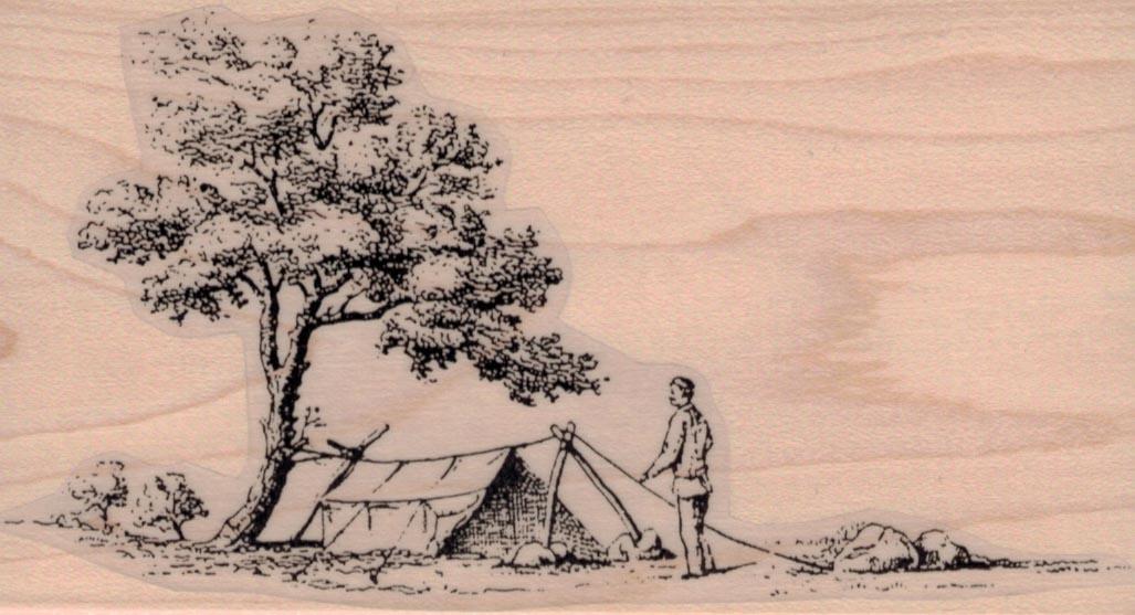 Men Setting Up Camp 3 x 5 1/4