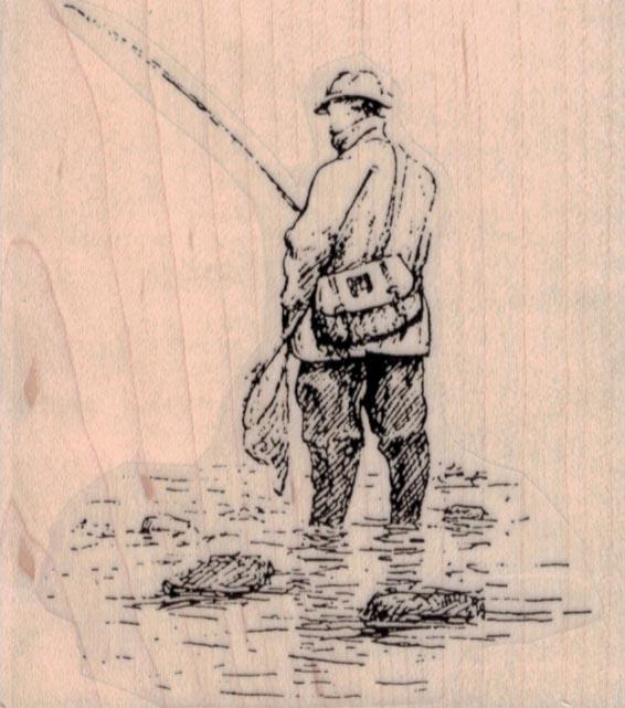 Man Fishing 3 x 3 1/4-0