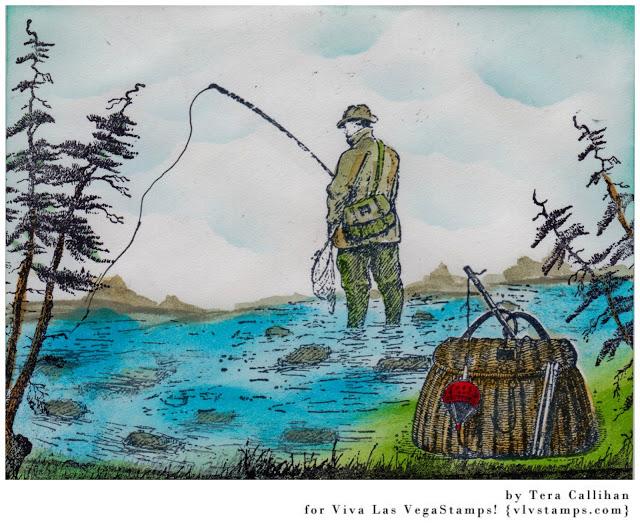 Man Fishing 3 x 3 1/4-45739