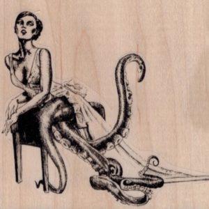 Octopus Lady 3 3/4 x 3 1/4-0