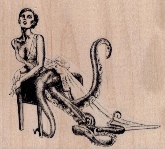 Octopus Lady 3 3/4 x 3 1/4