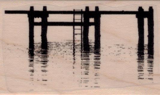 Pier or Dock Silhouette 1 3/4 x 2 34