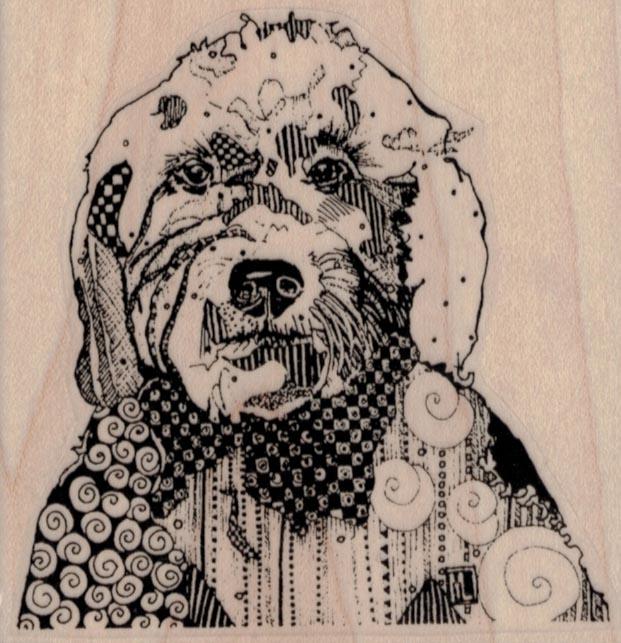 Whimsical Dog 3 1/4 x 3 1/4