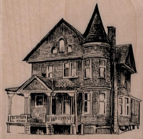 Old House 3 1/4 x 3