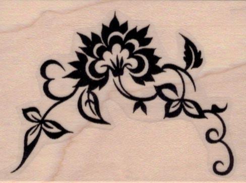 Oriental Flourish 2 x 2 1/2