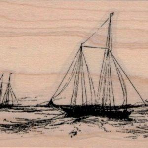 Sailing Scene 2 1/2 x 4 1/4-0