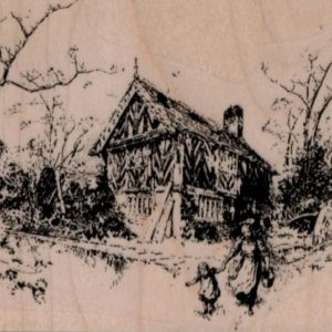 Cottage Scene 3 3/4 x 2 3/4-0