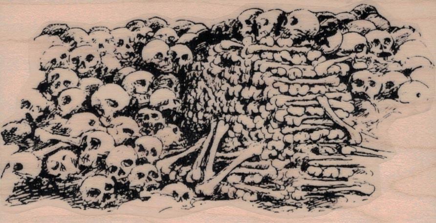 Pile of Bones and Skulls 2 1/2 x 4 1/2