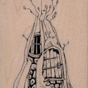 Whimsical Tree House 3 x 4-0