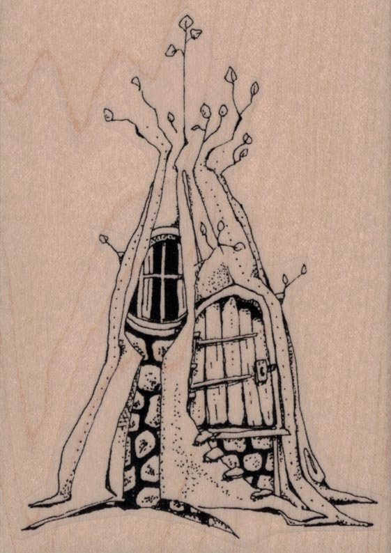 Whimsical Tree House 3 x 4