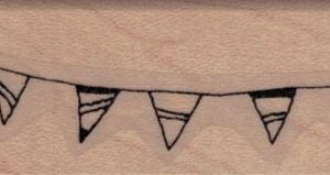 Whimsical Triangle Banner 1 x 4 3/4-0