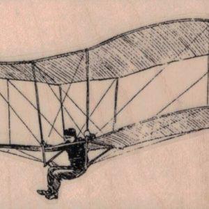 Vintage Man in Bi-Glider 3 x 2-0