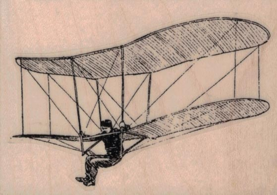 Vintage Man in Bi-Glider 3 x 2