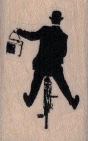 Banksy Man on Bicycle 1 x 1 1/2-0