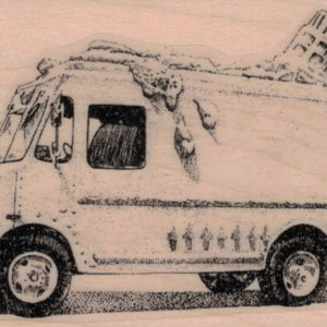 Melted Ice Cream Truck 2 1/2 x 3 3/4-0