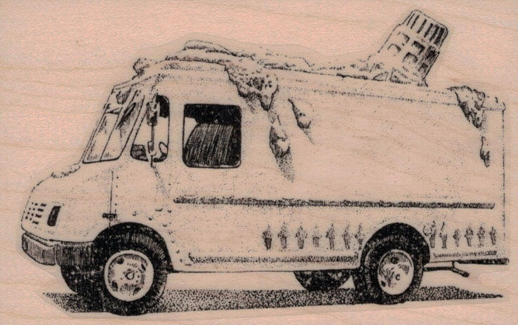 Melted Ice Cream Truck 2 1/2 x 3 3/4