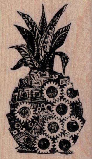 Whimsical Pineapple 1 3/4 x 2 3/4