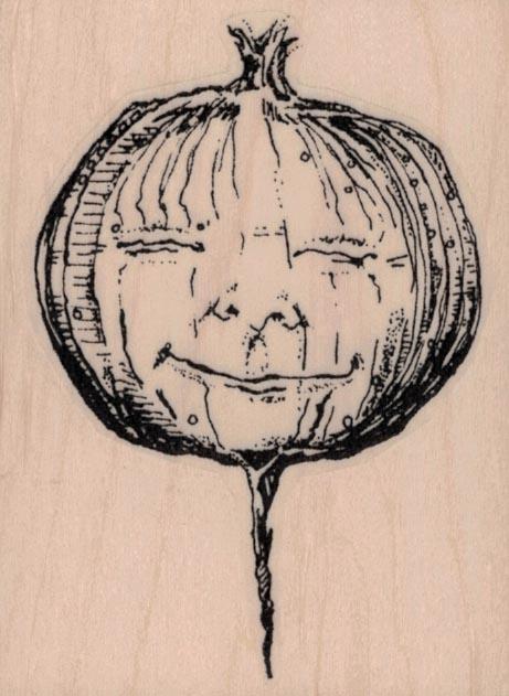 Whimsical Turnip Face 2 1/2 x 3 1/4