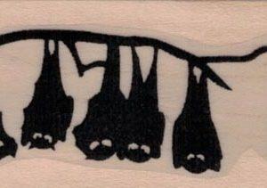Hanging Bats Silhouette 1 1/4 x 2 3/4-0