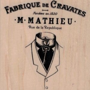 Fabrique De Cravates Ad by Cat Kerr 3 1/4 x 3 1/4-0