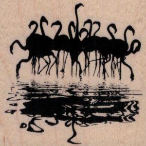 Flock of Flamingoes Reflection 2 3/4 x 2 1/2-0