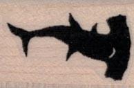 Hammerhead Shark Silhouette 3/4 x 1-0
