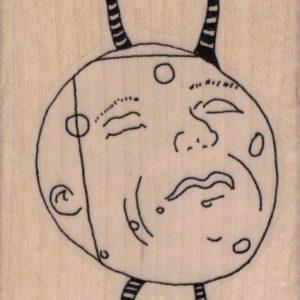 Whimsical Moon Head Guy 2 1/4 x 3 1/2-0
