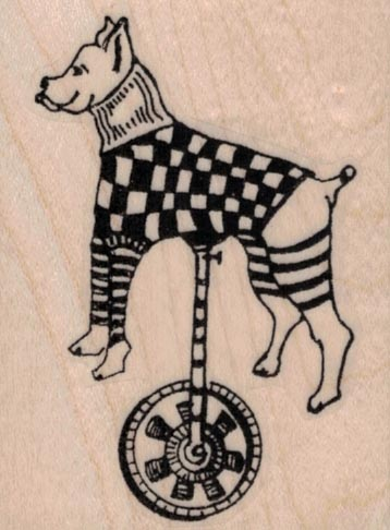 Whimsical Wheeley Dog 2 x 2 1/2