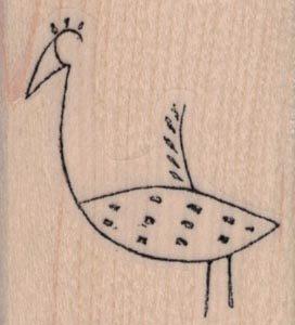 Stylized Bird 1 1/2 x 1 3/4-0