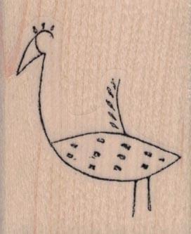 Stylized Bird 1 1/2 x 1 3/4
