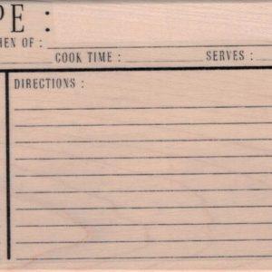 Recipe Card 3 x 5-0