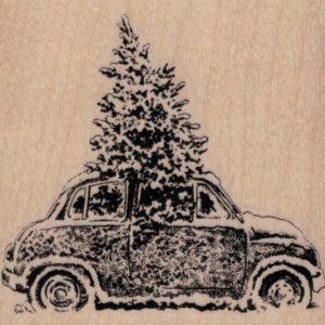 Christmas Tree In Car 3 1/4 x 3-0