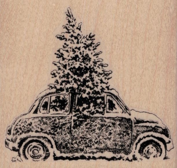 Christmas Tree In Car 3 1/4 x 3