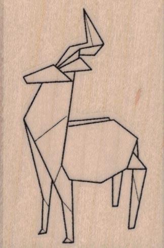 Origami Deer 1 3/4 x 2 1/2