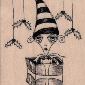 Christmas Elf by Leslie Wood 2 3/4 x 3 1/4-0