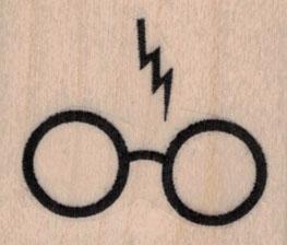 Lightning Bolt & Glasses 1 1/2 x 1 1/4