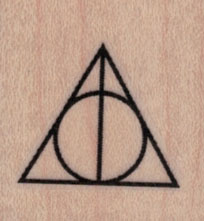 Deathly Hallows Symbol 1 1/4 x 1 1/4