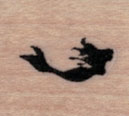 Tiny Mermaid Silhouette 3/4 x 3/4