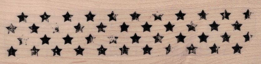 Grungey Strip Of Stars 1 1/4 x 4 1/4