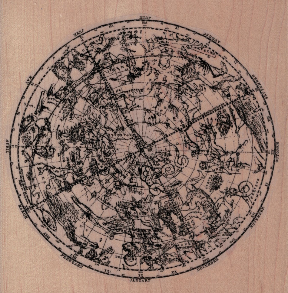 Large Star Chart/Map 5 x 5