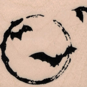 Bats Over Moon 2 1/2 x 2 1/4-0