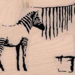 Banksy Zebra Washing 2 1/2 x 3 3/4-0