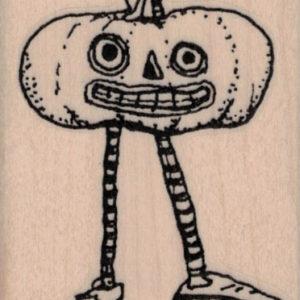Whimsical Jack O Lantern With Legs 2 x 2 ½-0