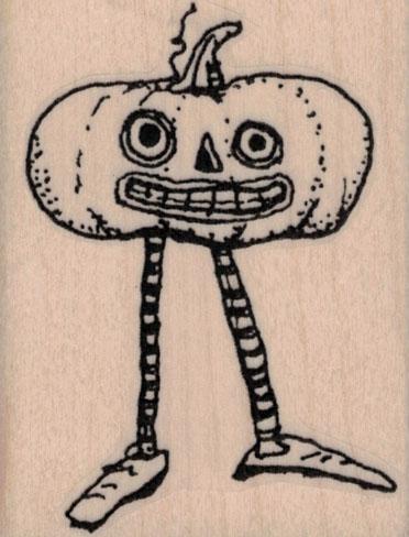 Whimsical Jack O Lantern With Legs 2 x 2 ½