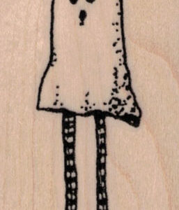 Whimsical Ghost With Legs 1 ½ x 2 ¾-0