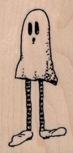 Whimsical Ghost With Legs 1 ½ x 2 ¾