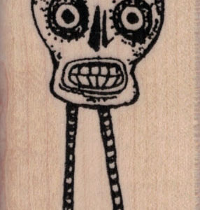 Whimsical Skull With Legs 1 ½ x 2 ¼-0