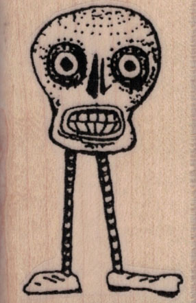 Whimsical Skull With Legs 1 ½ x 2 ¼